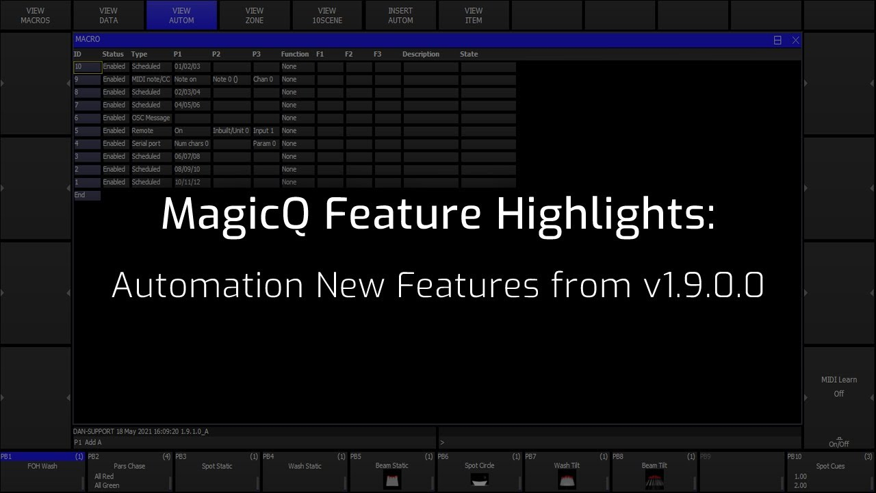 Automation new features added in v1.9.0.0
