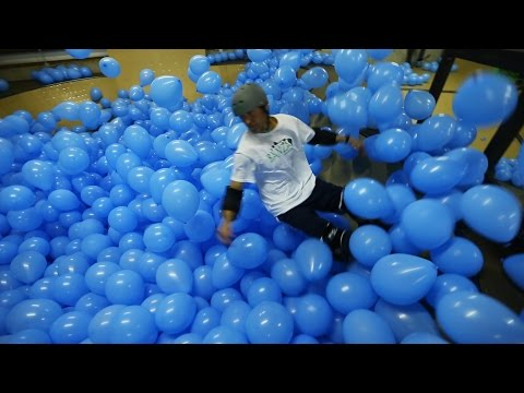 Skateboarding Through 5000 Balloons Looks Like A Whole Lot Of Fun
