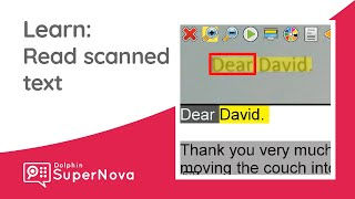 Learn SuperNova: How to Read Scanned Text with the DocReader