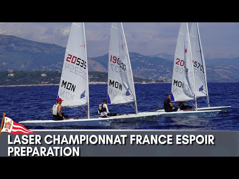 YACHT CLUB DE MONACO_LASER CHAMPIONNAT FRANCE ESPOIR  PREPARATION
