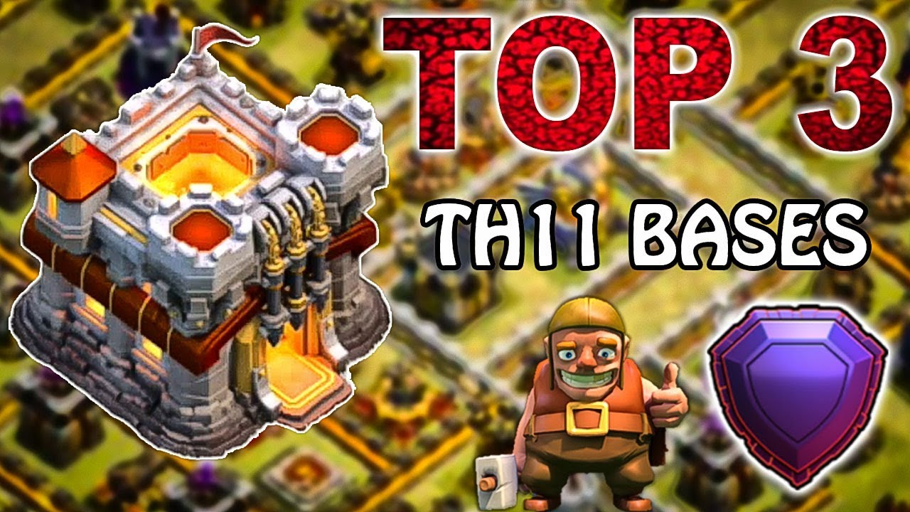 Download TOP 3 NEW TH11 WAR BASE 2018 (Layout) BEST TOWN HA