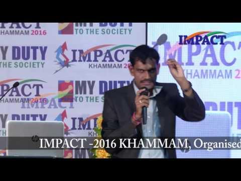 Self introduction|Vivek Chandra|TELUGU IMPACT Khammam 2016