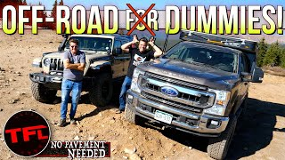 Ford Super Duty vs Jeep Gladiator: Can Any Dummy Go Off-road? No Pavement Needed Ep.9 by The Fast Lane Truck