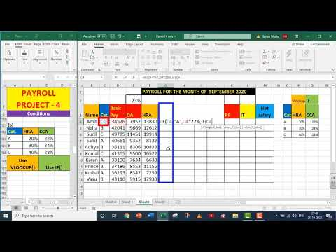 EXCEL PAYROLL PART 4