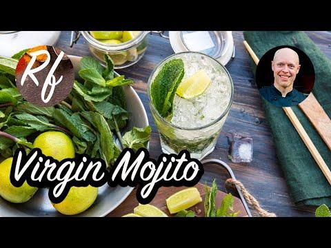 Virgin Mojito är enalkoholfri drink eller cocktail med lime, mynta och sockerlag samt is. En god kombination av sött, surtoch mint. Läskande och svalkande - en riktig sommardrink.>