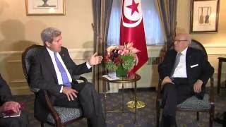 Secretary Kerry Meets With Tunisian President Beji Caid Essebsi