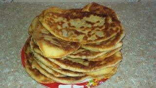 Пирожки с картофелем на сковороде (рецепт  теста)