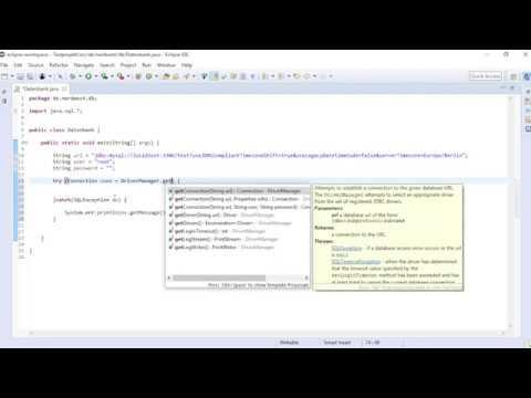 Java, JDBC und MySQL-Datenbank (einfaches Beispiel)
