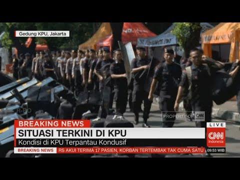 Situasi Terkini KPU: Kondusif, Polisi Sudah Berjaga Sejak Pagi