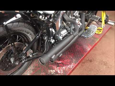 MCJ Verstellbare Auspuffanlage mit ABE Harley Davidson Softail Klappenauspuff