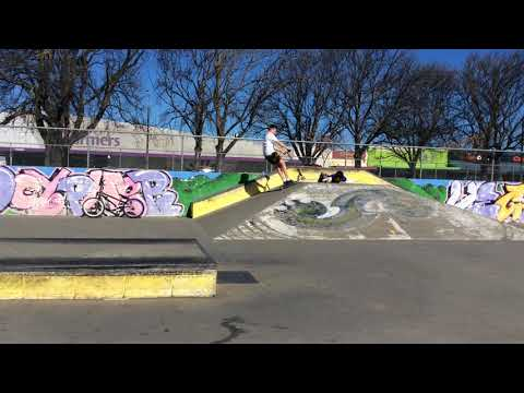 Jumps over a dude at Ashburton Skatepark NZ