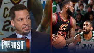 Chris Broussard on Kyrie's MVP comments about James Harden vs LeBron | NBA | FIRST THINGS FIRST