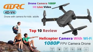 4DRC V4 Drone with Camera for adults, 1080P HD FPV Live Video, Foldable RC Quadcopter Helicopter