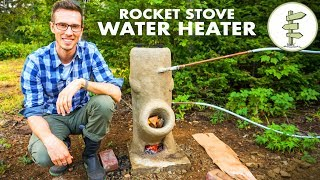 Brilliant DIY Off-Grid Water Heater Using a Rocket Stove – No Propane!