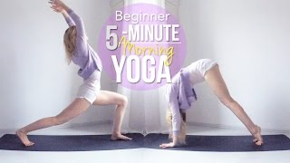 5-Minute Morning Yoga // Beginner by Rinka Essel Yoga & Beauty