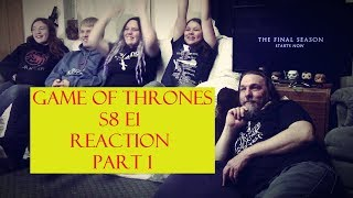 """Game of Thrones S8 E1 Reaction Part 1 """"Winterfell"""""""