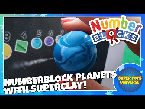 Numberblock Planets 1 to 10 with Super Clay!! New Numberblocks!!