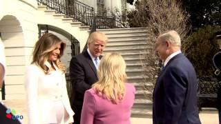 טראמפ ומלניה נפגשים לראשונה עם ביבי ושרה (כולל סרטון)