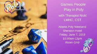Atlanta Poly 2019: Games People Play in Poly