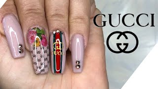 Gucci Nails | Nail Tutorial | Flower Nails