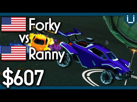 Forky (Rank 4) vs Ranny | $607 Rocket League 1v1