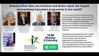 Erasmus+: How can Scotland and Wales Rejoin?