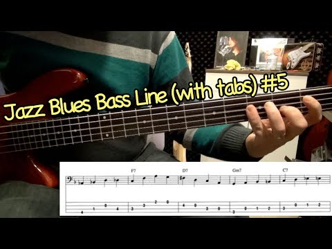 Jazz Blues Bass Line (with tabs) #5