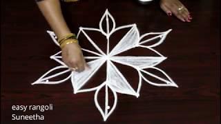 Very simple  rangoli kolam art designs by Suneetha || easy n cute muggulu