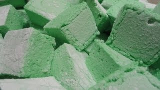 Homemade Marshmallows - St. Patricks Day Green! :)