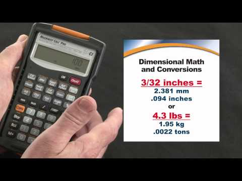 Machinist Calc Pro - Dimensional Math and Conversions