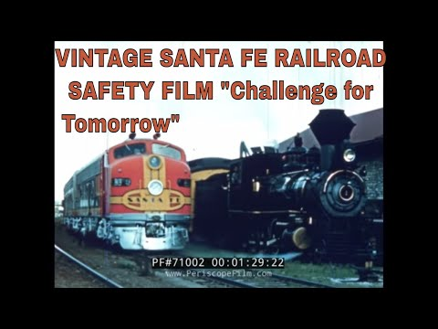 VINTAGE SANTA FE RAILROAD SAFETY FILM