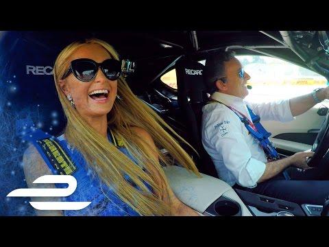 Paris Hilton BMW i8 Hot Lap w/ Formula E CEO Alejandro Agag