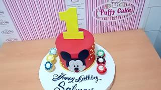 Mickey Mouse Cake 1st Birthday Cake With Cupcakes decorating
