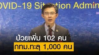 โฆษก ศบค.เผยผู้ป่วย COVID-19 ใหม่ 102 คน ป่วยสะสม 2,169 คน