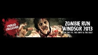 preview picture of video 'Windsor Zombie run October 2013 : Undead Unleashed !'