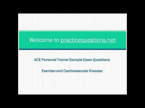 ACE Personal Trainer Practice Exam Questions - YouTube