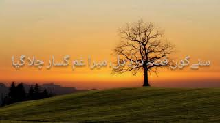 Sunay kon qissa e dard e dil with urdu lyrics - YouTube