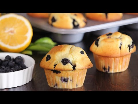 Blueberry Lemon Muffins | Bakery Style Muffins | How Tasty Channel