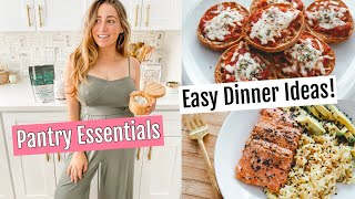 PANTRY ESSENTIALS // HEALTHY QUICK DINNER IDEAS (under 20 minutes)