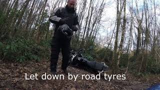 Triumph Tiger 1200 Off Road And Being Dropped