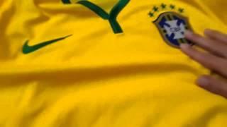 Camisa do Brasil 2014 modelo jogador   Copa do Mundo
