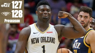 Zion drops 26 points vs. the Jazz and buries a 3-pointer in the Pelicans' win   2019 NBA Highlights