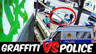 GRAFFITI Rooftop Bombing Vs. POLICE   Daytime Action   SUCUK 2018