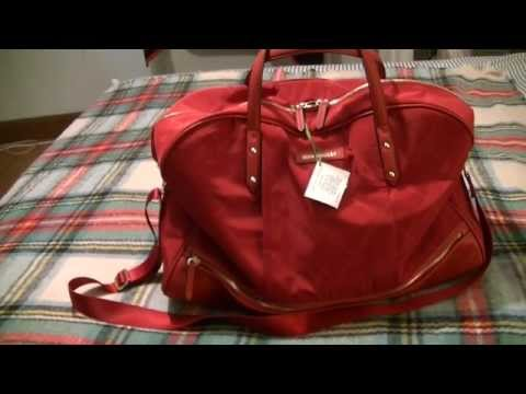 Vera Bradley Preppy Poly travel bag Review packed as a carry on!