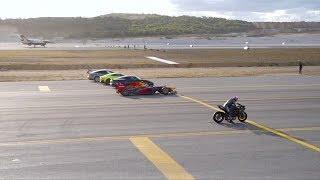 战斗机赛车摩托车 400米竞速谁能赢?(土耳其)