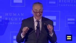 New York Senator Chuck Schumer Speaks at the 2019 HRC NY Gala