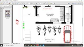 30X40 Apartment Plan [Ground Floor]