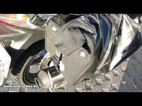 Ortlieb Motorrad Packtaschen wasserdicht richtig verschliessen