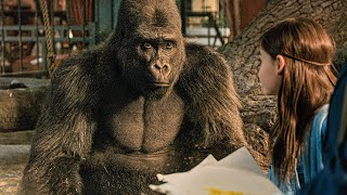 A Gorilla, Who Draws! Scene - THE ONE AND ONLY IVAN (2020) Movie Clip