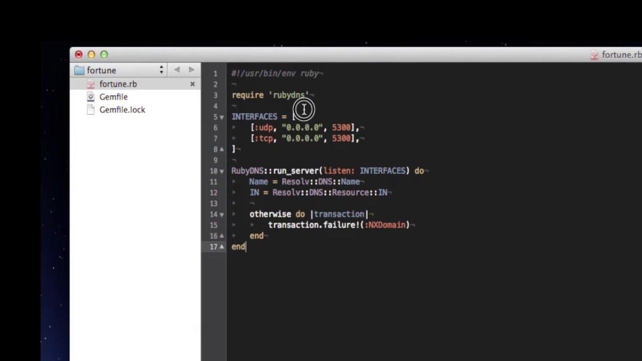 RubyDNS Introduction